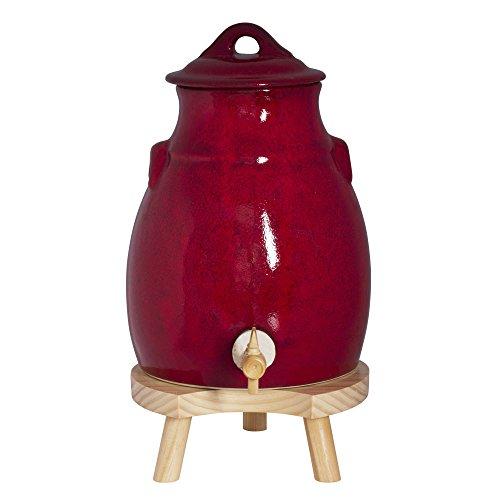 Photo de vinaigrier-avec-socle-3-5-l-rouge