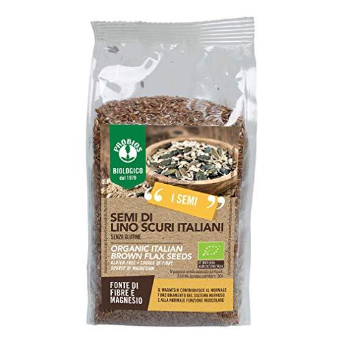 Probios Semi di Lino Scuri Bio 500 g - Senza Glutine