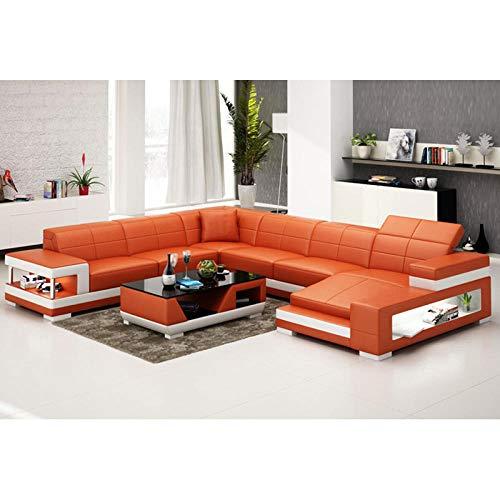 Winpavo Sofas & Sofas Sofa Corner Sofa Set Italienische Art Couch Wohnzimmer Leder Ecksofa-is