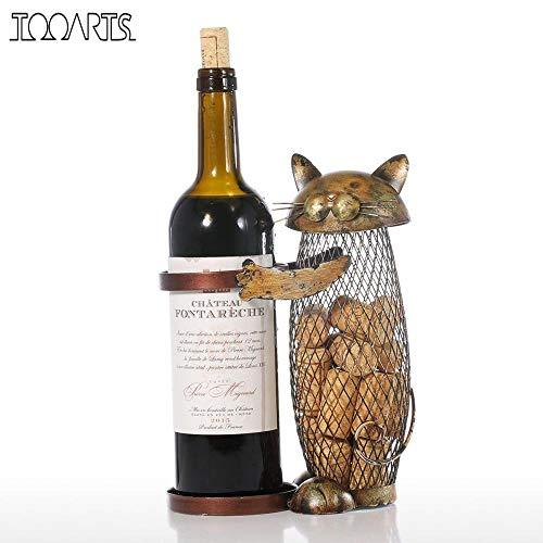 Cat Wijnrek Wijnhouder Plank Metalen sculptuur Praktische sculptuur Wijnstandaard Woondecoratie Interieur Ambachten bier, China
