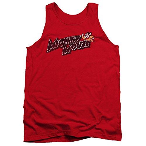 Mighty Mouse - - Peut Logo Hommes Débardeur, Medium, Red