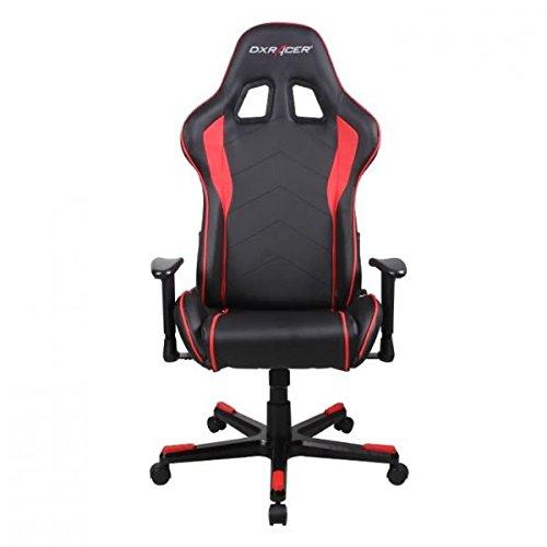 DXRacer OH/FE08/NR DX Racer, F-Serie, Formular Serie, Bürostuhl, Drehstuhl, Kunstleder schwarz-rot, das Original