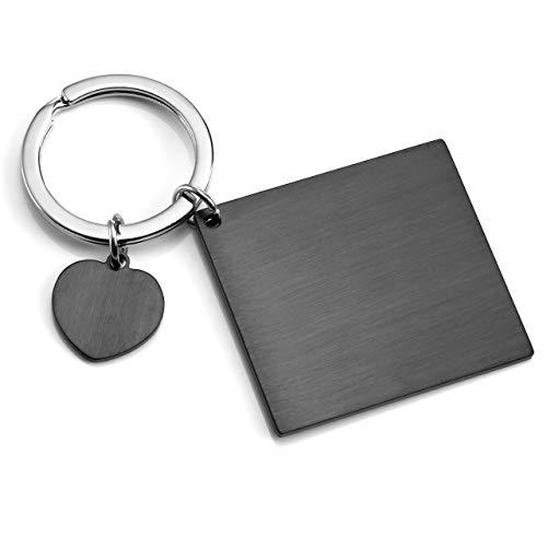 Personalized Master Gravur Personalized Edelstahl Partner Schlüsselanhänger Quader Rechteck Schlüsselring Kalender Adventskalender Custom