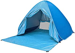Pop Up Beach Tent Lightweight Windproof Easy Setup Portable 2-3 Person Family Outdoor Sun Shelter with Zipper Curtain Shad...