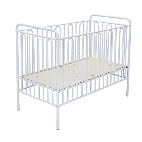 Polini Babybett Kinderbett aus Metall in weiß Metall