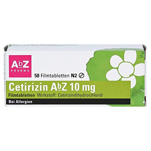 CETIRIZIN AbZ 10 mg Filmtabletten 50 St
