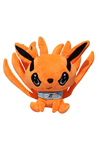 Kurama Nine Anime Naruto-Tails Fox Plush Doll Pillow Toy Home Decor 21cm for Girls Birthday Gift (21 cm/8.5 in)