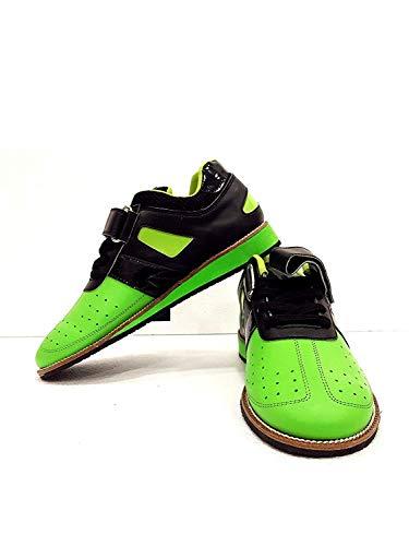 RXN Men's PU Green Weightlifting Shoes Size -5 UK