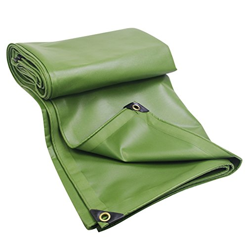 ZEMIN Bâche De Protection Couverture Transparente Imperméable Crème Solaire Drap Tente Épissure Doux Chaud Tissu Polyester, Vert, 600G/M², 10 Tailles Disponibles (Color : Green, Size : 6X6M)