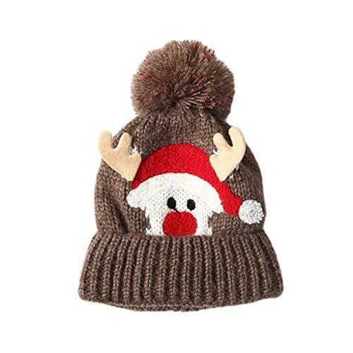 YQQMC I Bambini del Bambino Inverno Cappello di Lana, Morbida e Comfort Renna Cappello con Peluche Foderato Cappelli Invernali for i Bambini delle Ragazze dei Ragazzi Berretti e Cappellini