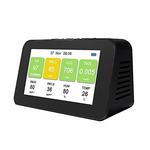 Dm601 Multi-Function LCD Screen Luft-QualitäTsdetektor Pm2.5 Pm1.0 Pm10 Co2 Tvoc Partikeldetektoren Monitor Schnelle Rechengeschwindigkeit