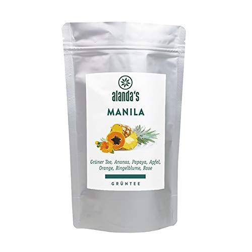 "Grüntee ""Manila"" │ 100g │ Grünteemischung │ Grüner Tee, Ananas, Papaya, Apfel, Orange, Ringelblume und Rose"