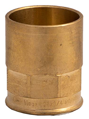 Raccordi idraulici in ottone per collegamento a saldare a tubi rame femmina 28 mm 3/4 '