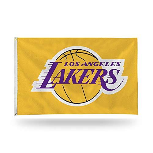 AA Plus Shop LA Lakers Team Sports Flag, 3x5 Lakers Flag