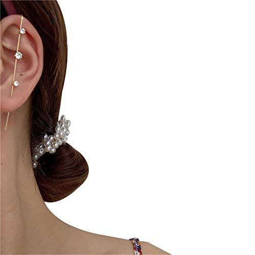 Dastrues Ear Wrap Crawler Hook Earrings Geometric Stud Earrings Piercing Earring Street Popular Hip Hop Ear Jewelry
