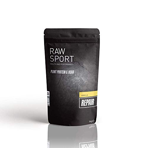 Raw Sport Vegan Protein Powder| with Added BCAA| Maca| Digestive Enzyme Complex| Vegan Protein Available in 3 Delicious Flavours (Vanilla)
