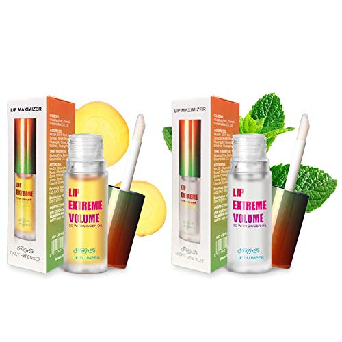 Aumentador de Labios - Lip Plumper - Aceite de Esencia Incoloro para Hidratar - Mejora y Perfila los Labios, Aumenta la Elasticidad y Aclara los Labios - Uso Diurno/Nocturno