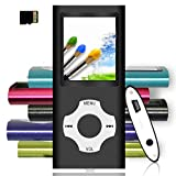 Tomameri - Portable MP3 / MP4 Player with Rhombic Button, Including a 16 GB Micro SD Card and Support Up to 64GB, (Mintgreen-on-RougepinkButton)