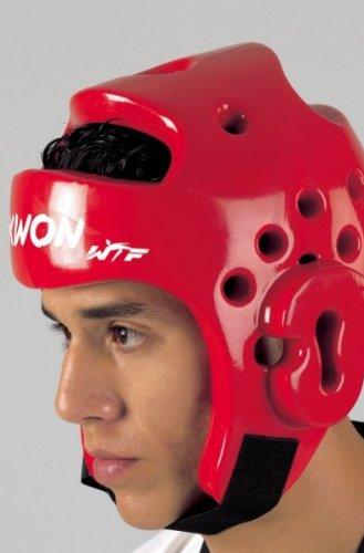 KWON® Taekwondo Kopfschutz 40061 PU CE rot WTF Kopfschützer