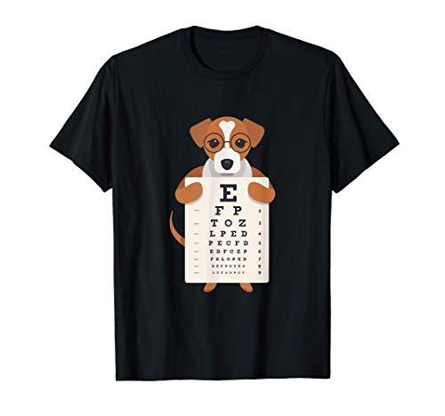 lustiger Sehtest für Optiker Augenarzt Hund T-Shirt