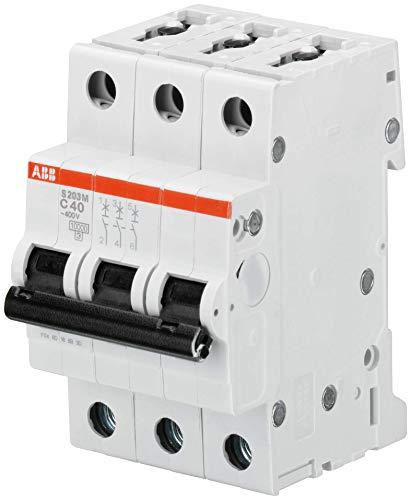 Abb-entrelec s200m-d - Interruptor magnetotermico s203m-d 6a tripolar 3 módulos