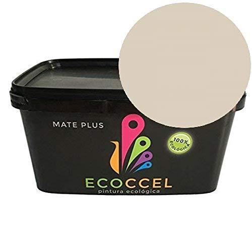 Mejor pintura, Pintura plastica, pintura pared, pintura para interiores, pintura blanca, pintura exterior, pintura ECOLOGICA, ECOCCEL 4LT y 14LT (4 lt, cafe con leche suave)