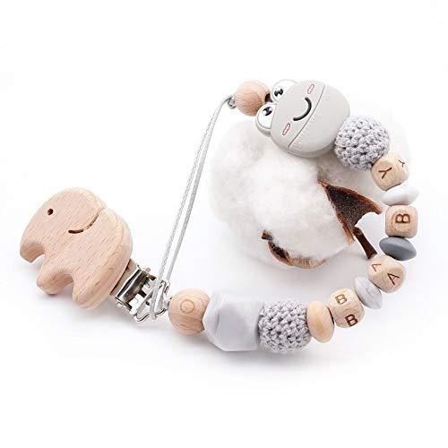 Neue Cartoon Nette Mini Lächeln Frosch Plus Buche Elefanten Clip Diy Baby Schnullerkette Kann Angepasst Werden Name Spielzeug Halter Zubehör