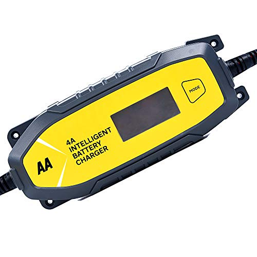 AA AA0725 4A Intelligent Car Battery Charger - LCD, 8 Stage, Recover Dead...