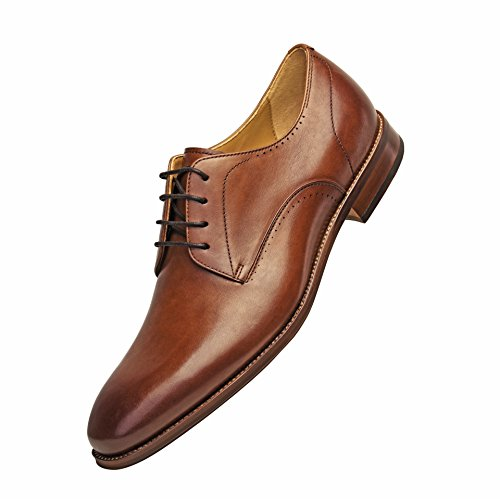 COMOTEK Men's Comfort Casual Dress Classic Oxford Full Grain Leather Shoes With Soft Removable Soles For 2018 Design-Andros Tans US7.5