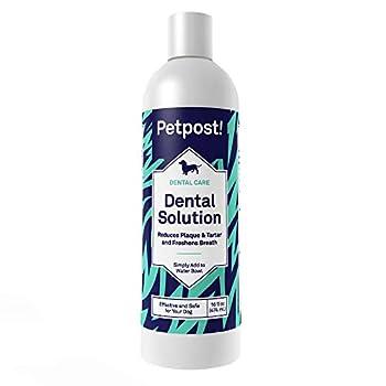 Petpost | Solution Dentaire pour Chiens - Contre la Mauvaise haleine - Plaque et Caries - Lavage Naturel des Dents