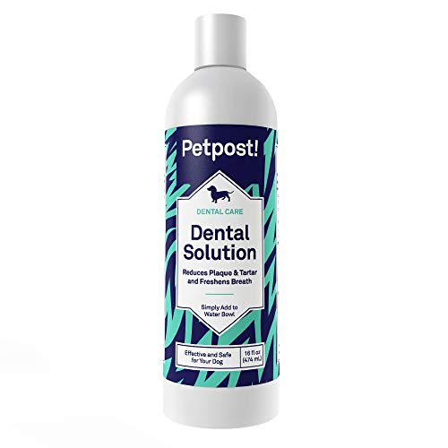 Petpost | Solución Dental para Perros - Aditivo De Agua Que Mata El Mal Aliento - Plaquetas Y Caries Dental - Solución De Limpieza Natural para Los Dientes