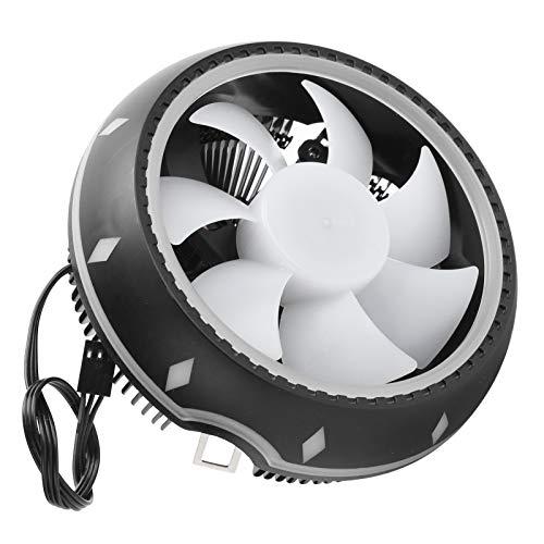T opiky Ventilador de refrigeración de CPU RGB 38CFM 2000RPM Disipador de Calor de Enfriador de Aire de 3 Pines para Intel LGA775/1150/1151/1155/1156/1366/para AMD FM2/AM4/FM1/AM3+/AM3/AM2