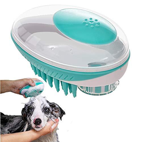 VANUODA huisdier verzorgende borstel, 2 in 1 siliconen huisdier bad borstel hond kam, huisdier spa Shampoo massage borstel douche ontharing kam voor honden katten huisdier schoonmaken Grooming Tool