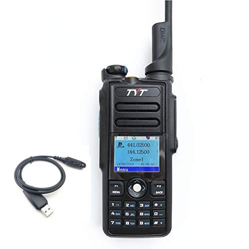 TYT MD-2017 DMR Dual Band Digital Handheld Two Way Radio Transceiver with Programming Cable