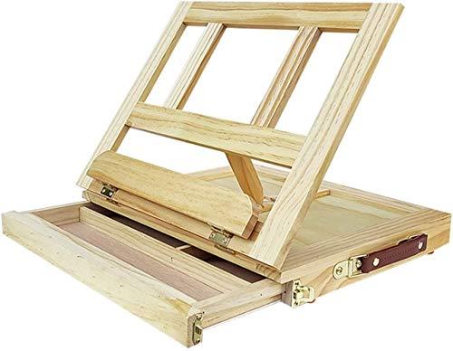qiuqiu Sztaluga na biurko z szufladami, profesjonalna deska kreślarska, przenośna, składana podpórka do szkicowania z pudełkiem do przechowywania A