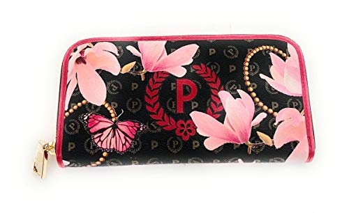 Pollini Pollini portemonnee uit de collectie Heritage Secret Garden. Opdruk met rood P-Crown logo op de voorzijde. Sluiting met ritssluiting. 19 x 10 x 3 cm.