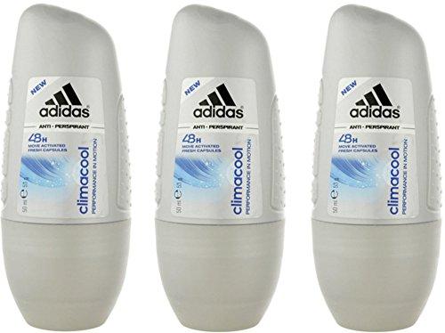 adidas Climacool Anti-Transpirant Roll-On – Deoroller Anti-Transpirant mit langanhaltendem Schutz vor Schweiß & Gerüchen, ohne Rückstände – pH-hautneutral – 3er Pack (3 x 50 ml)