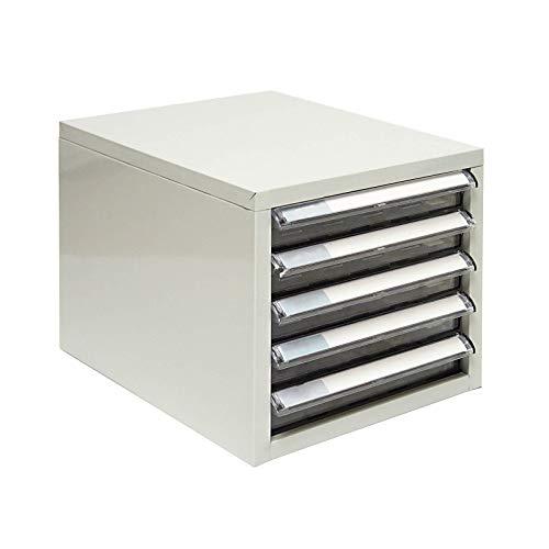 ADB Schubladencontainer/Schubladenbox/Büro Ablagebox/Briefablage aus Metall mit 5 Schubladen, Perfekt für Din A4 geeignet, Hergestellt in der EU