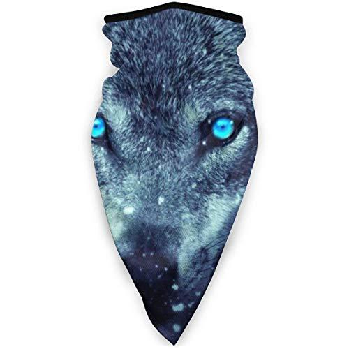 wobuzhidaoshamingzi Diadema de Cara de Imagen de Lobo de fantasía para guardapolvo de Bufanda sin Costuras de Polvo UV para Deportes