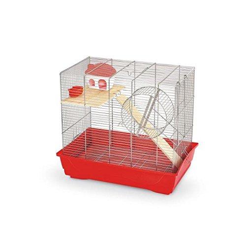 MPS Cage pour Petits Animaux Rongeur Ciop 60 Rouge 56,5 X 36,5 X 56 cm
