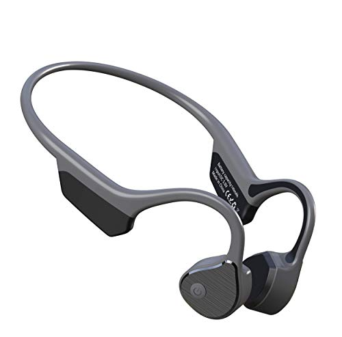 Bluetooth Wireless Bone Conduction Headphones Earbuds IP65 Waterproof Open Ear Headset 8hours Music Sports on Ear Headphone for Cycling Running Driving Gym Built-in Mic
