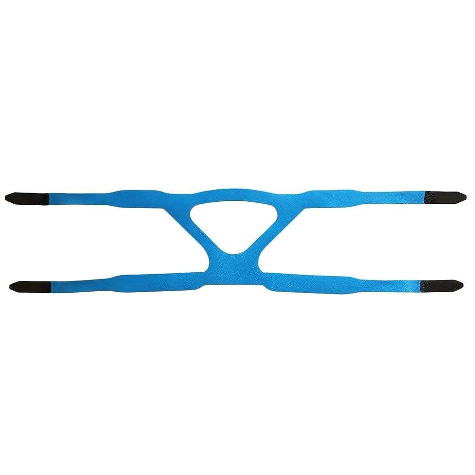 版しなやかによるとユニバーサルヘッドギアコンフォートジェルフルマスク安全な環境での取り替えCPAPヘッドバンドなしPHILPSに適した - ブルー&グレー