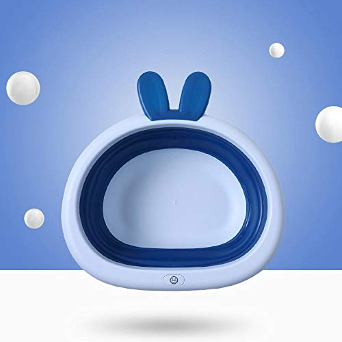 Alberta Bewegliches Faltbare Neugeborene Baby-Badezimmer Waschbecken Baby-Haus aus Kunststoff Waschkorb Kleidung-Speicher-Zubehör Zubehör-Sky Blue (Color : Blue)