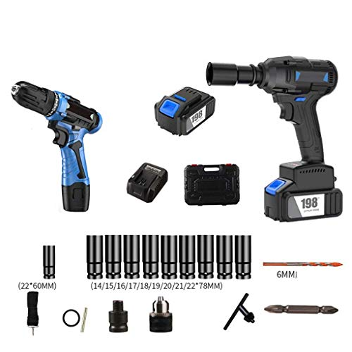 QTCD 198TV22500H 680Nm Impact Wrench, Fast Brushless Impact Wrench, Suitable for Technical Maintenance, Construction Sites, for Engineers, Repairers, Carpenters, etc.