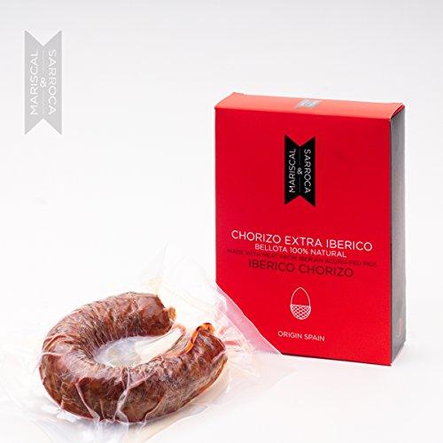 Chorizo (salamino) a 'ferro di cavallo' extra iberico ghianda Mariscal & Sarroca 100% naturale -200g