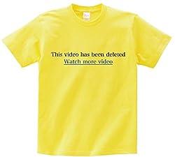 おもしろTシャツ This video has been deleted 半袖Tシャツ