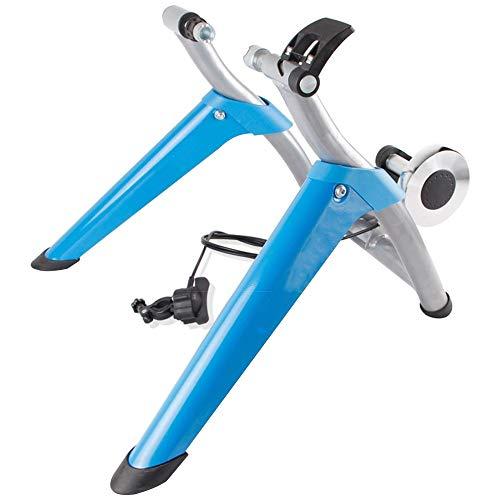 ZXCVB Entraineur Magnétique,Turbo De Vélo 6 Vitesses Réglable Home Trainer pour Roue 66-73 Cm 700 C Pliable Entraineur Intérieur Noir,Blue-Bicycletraining