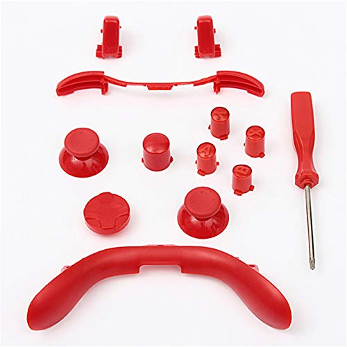 LB RB LT RT ABXY Bumper Triggers Thumbsticks D pad Bullet Buttons Full Buttons Mod Kit for Xbox 360 Controller (Red)