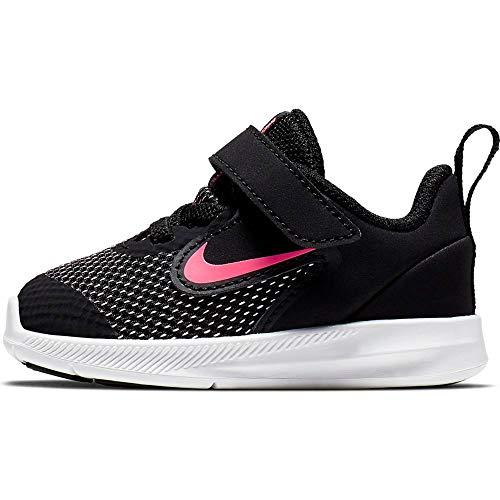 Nike Jungen Unisex Kinder Downshifter 9 (TDV) Niedrige Hausschuhe, Schwarz (Black/Hyper Pink/White 000), 22 EU