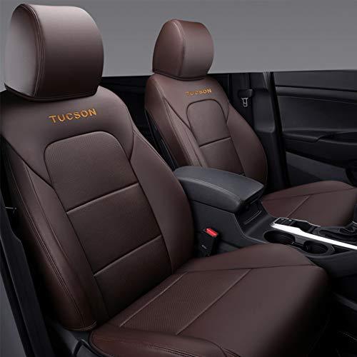Coprisedile Copri-sedili auto per Hyundai Tucson 2015 2016 2017 2018, copertura di protezione traspirante per sedile anteriore e posteriore in pelle PU di alta qualità